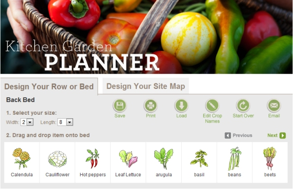 Gardener's Supply Company Kitchen Garden Planner
