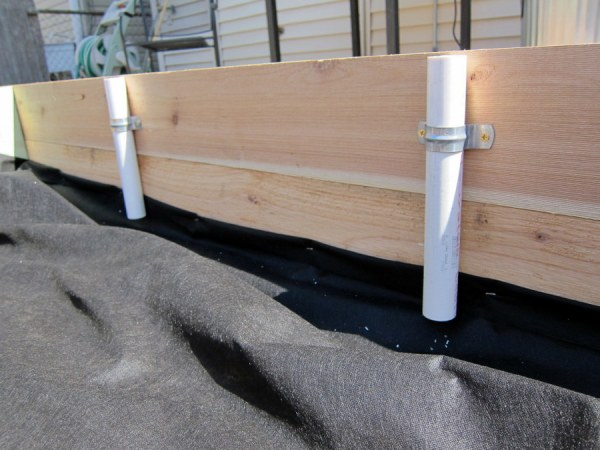 PVC Sleeves for Raised Garden Bed