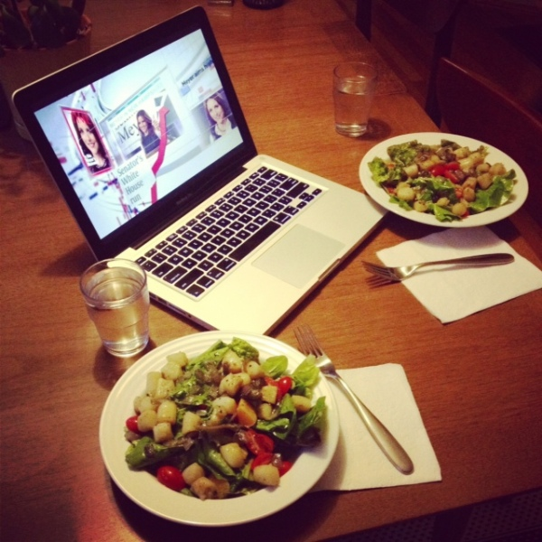 Laptop Salad Dinner