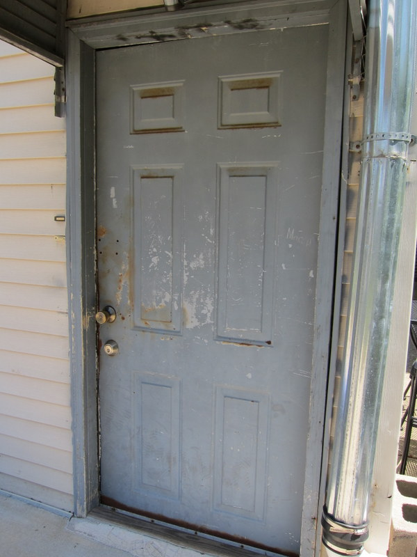 Back Door Before