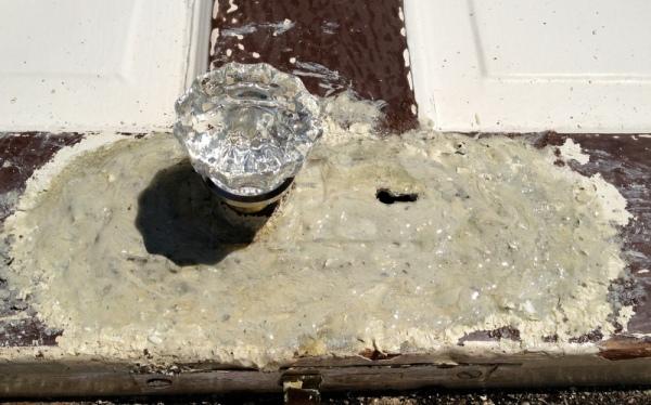Door Plate Stripping Second Coat