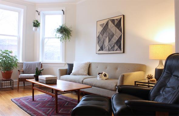 Living Room Fabric Hanging
