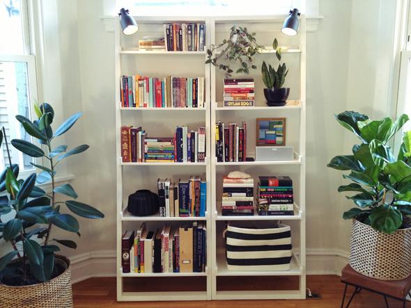 Leaning Bookshelves