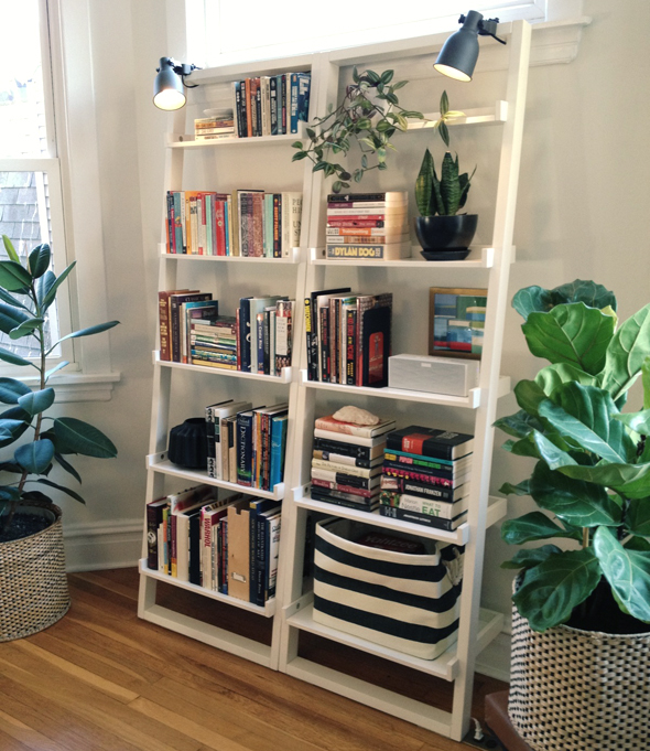 Styled Leaning Bookcase