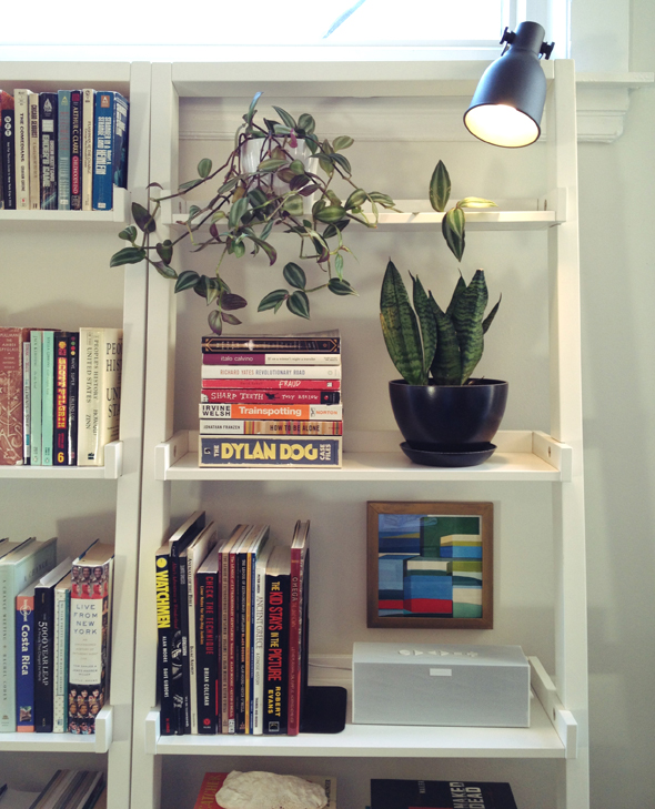 Styled Leaning Bookshelves