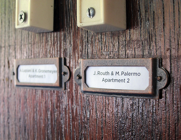 Apartment Doorbell Label Holder Things Project Palermo