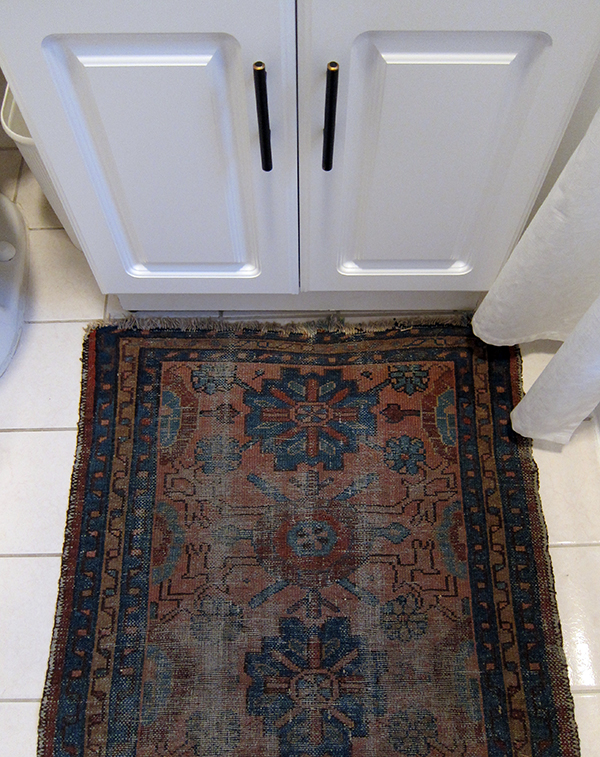 Antique Rug in the Bathroom | Project Palermo