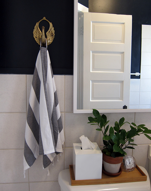 Bathroom Antique Brass Towel Hook | Project Palermo