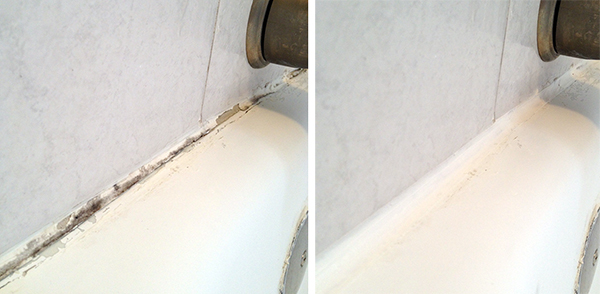 Caulk Before and After
