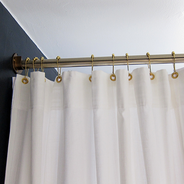 Shower Curtain with Brass Grommets and Rod | Project Palermo