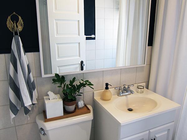 Rental Bathroom Makeover Before During After Project Palermo - Rental bathroom makeover