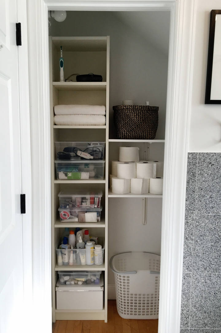 Bathroom Closet Before & After