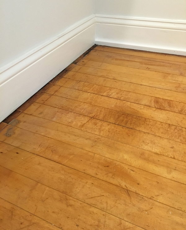 Bathroom Closet Floor After