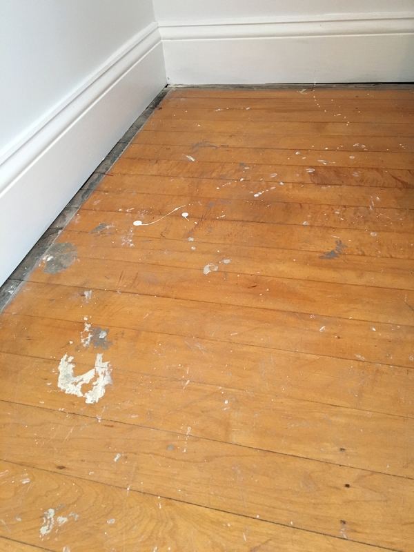 Bathroom Closet Floor Before