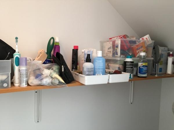 Bathroom Closet Shelf Before