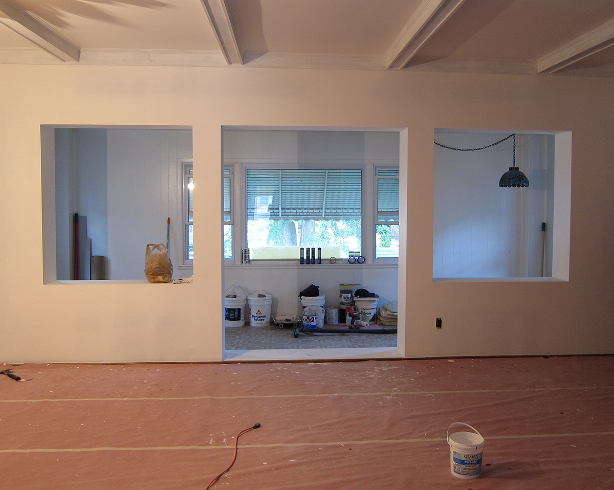 Living Room Arches During