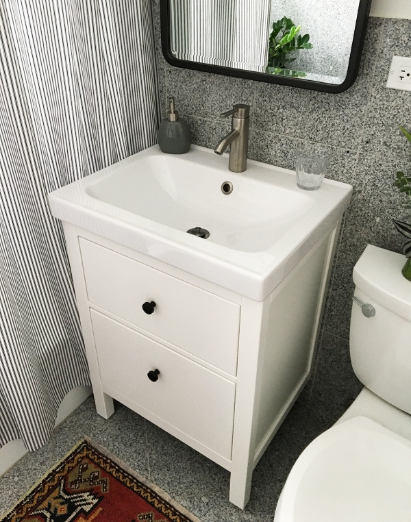 after ikea hemnes vanityjpg - Bathroom Cabinets Sink