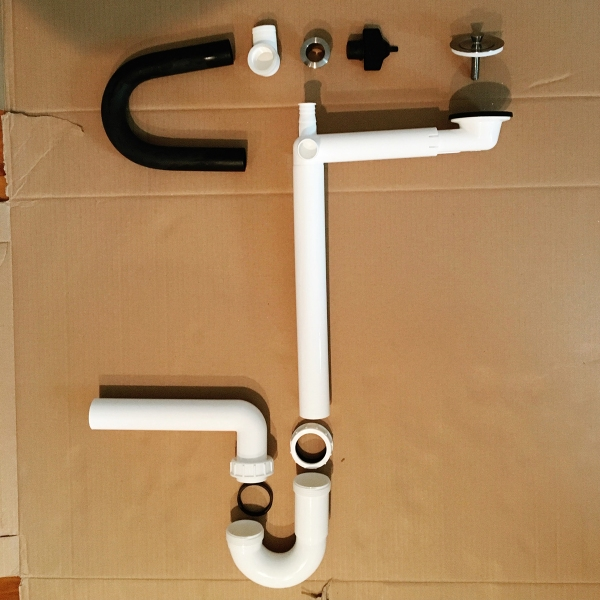 Pleasing 70 double bathroom sink plumbing kit decorating for Bathroom design kit