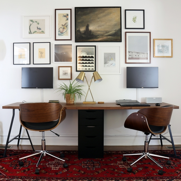 Two-Person Desk and Gallery Wall – Project Palermo