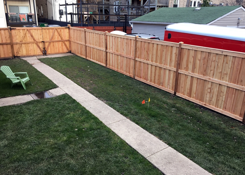 Chainlink to Cedar Fence Upgrade