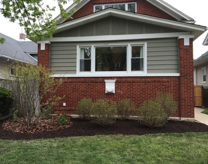 Front Yard Painting and Landscaping