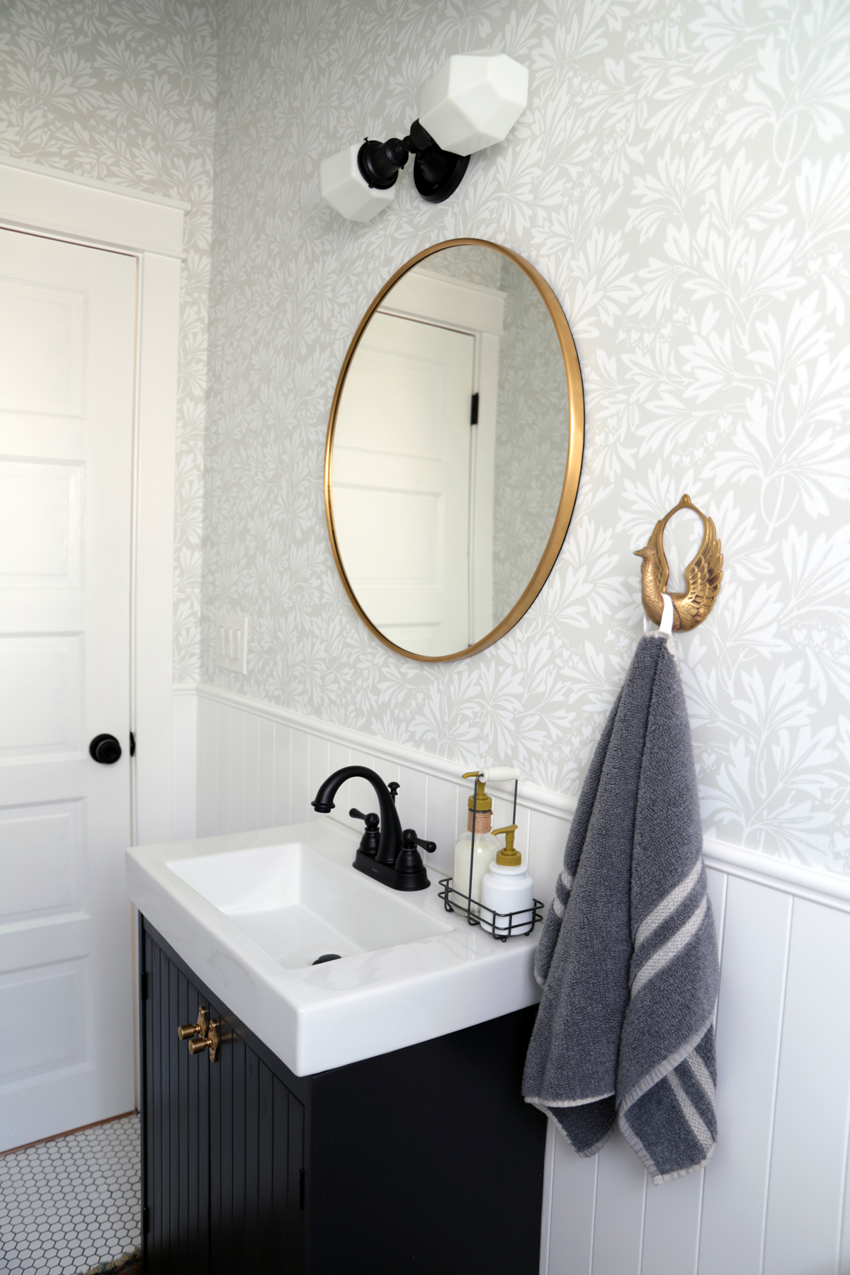 Dark Vanity with Brass Mirror.jpg