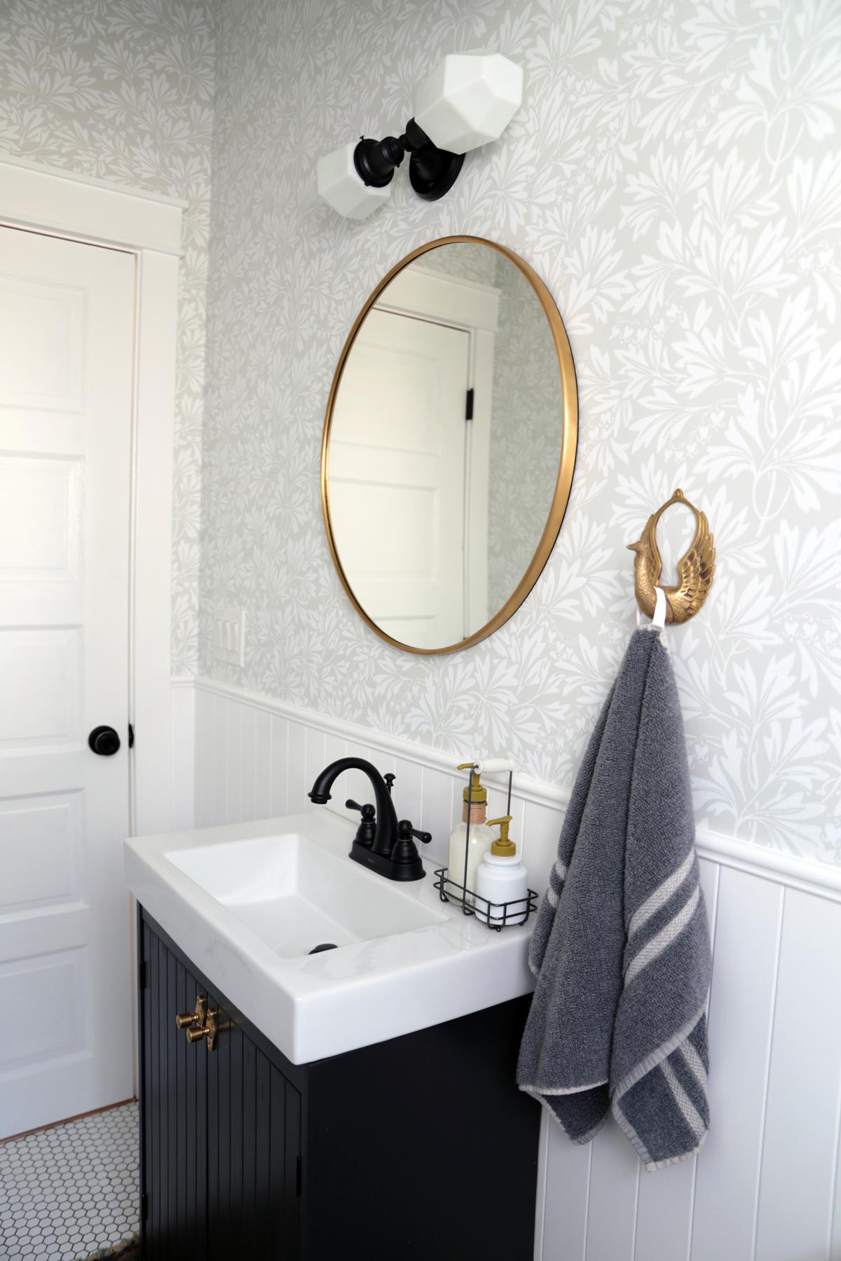 Dark Vanity with Brass Mirror.jpg