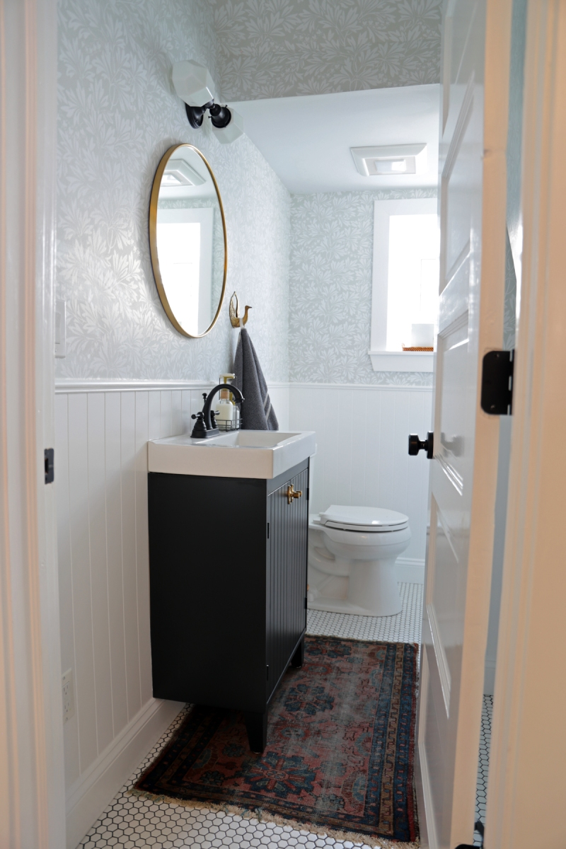 Half-Bathroom Before and After