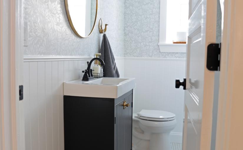 Half-Bathroom Before andAfter