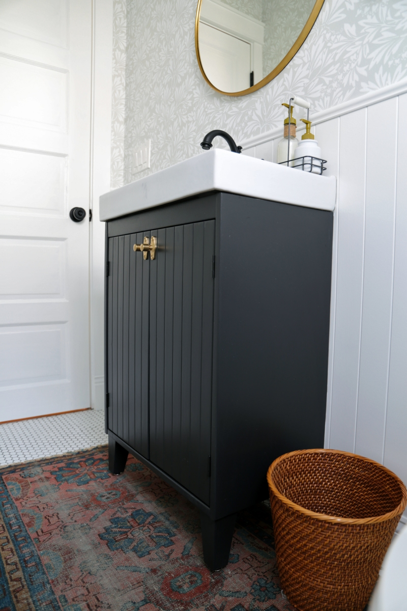 Customizing an IKEA SILVERAN Bathroom Vanity
