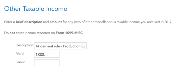How I Filed Tv Show Filming Rental Income With Turbotax Project
