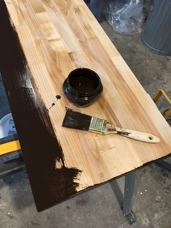 Butcher Block Shelf Stain.JPG