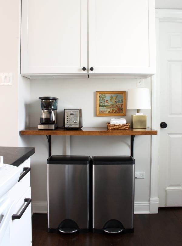 Kitchen Butcher Block Shelf over Trashcans.jpg