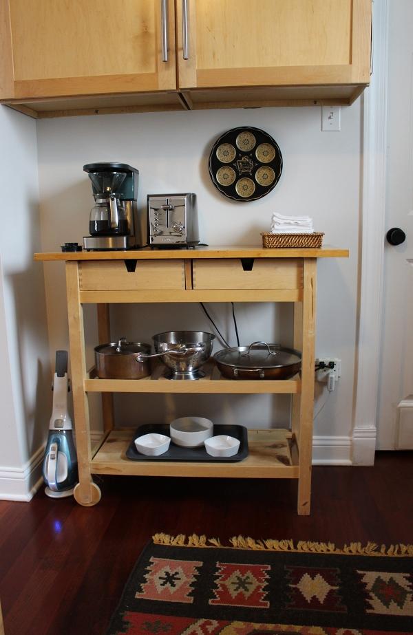 kitchen progress butcher block shelf
