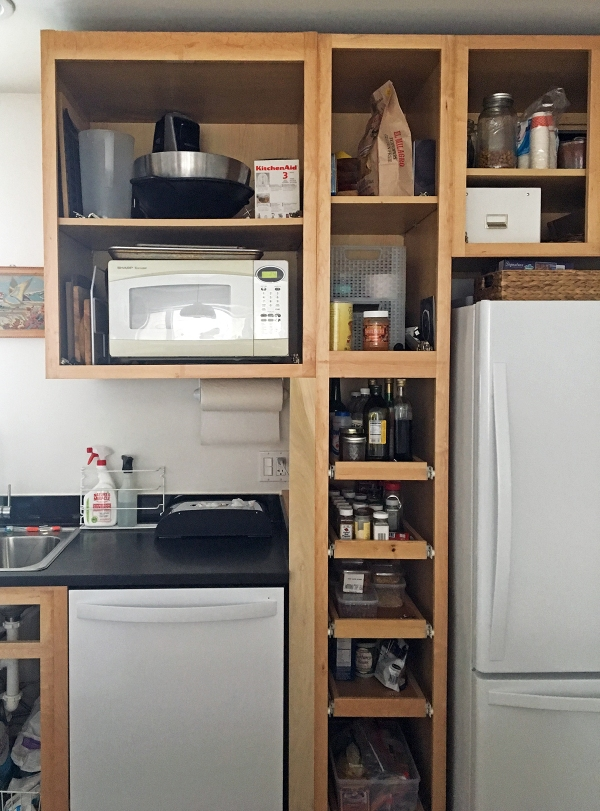 Microwave Cabient and Wood Filler