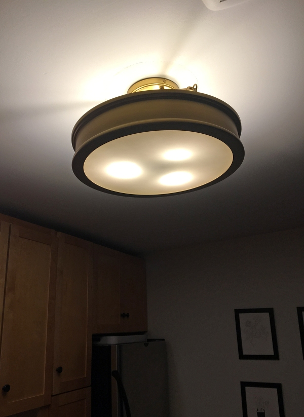 Spaceship Light Fixture 2