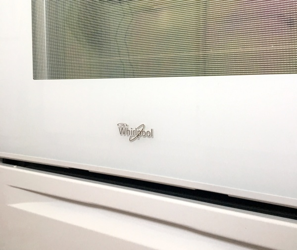 Whirlpool Decal on Range
