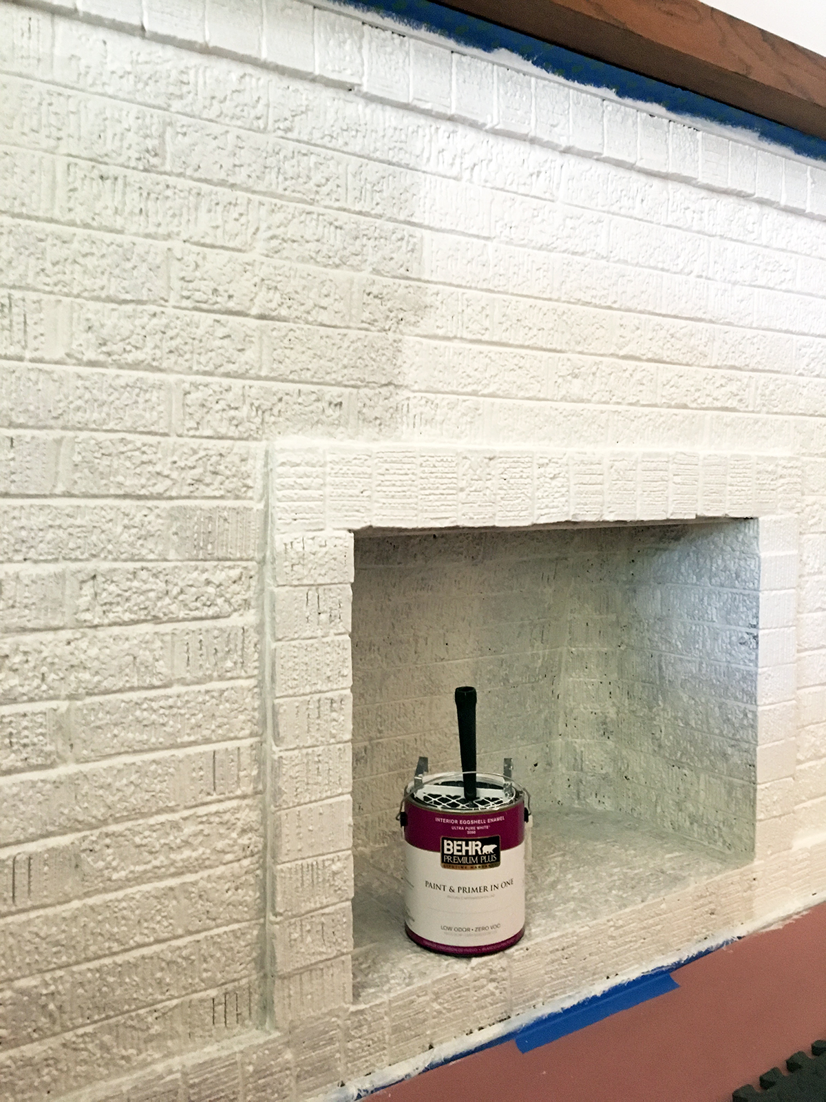 Fireplace Painting First Coat.jpg
