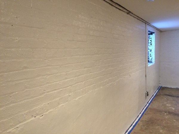 Basement Brick Painted