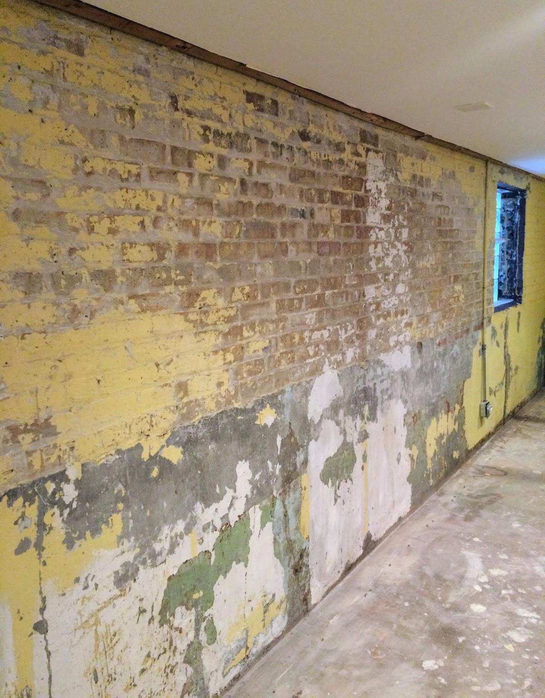 Basement Brick Wall Before