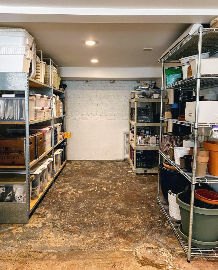 Our Clean, Organized, and Practical Unfinished Basement