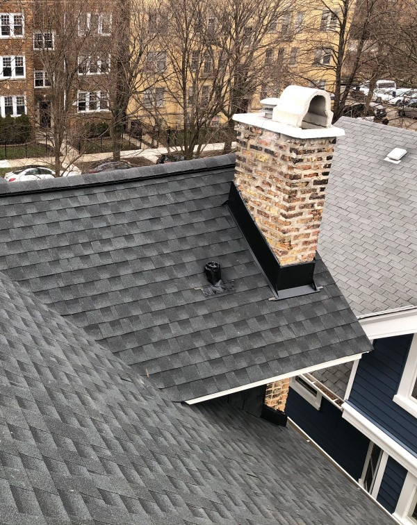 Chimney-roof