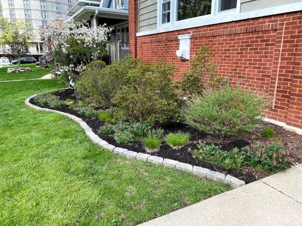 Front Yard Edging After
