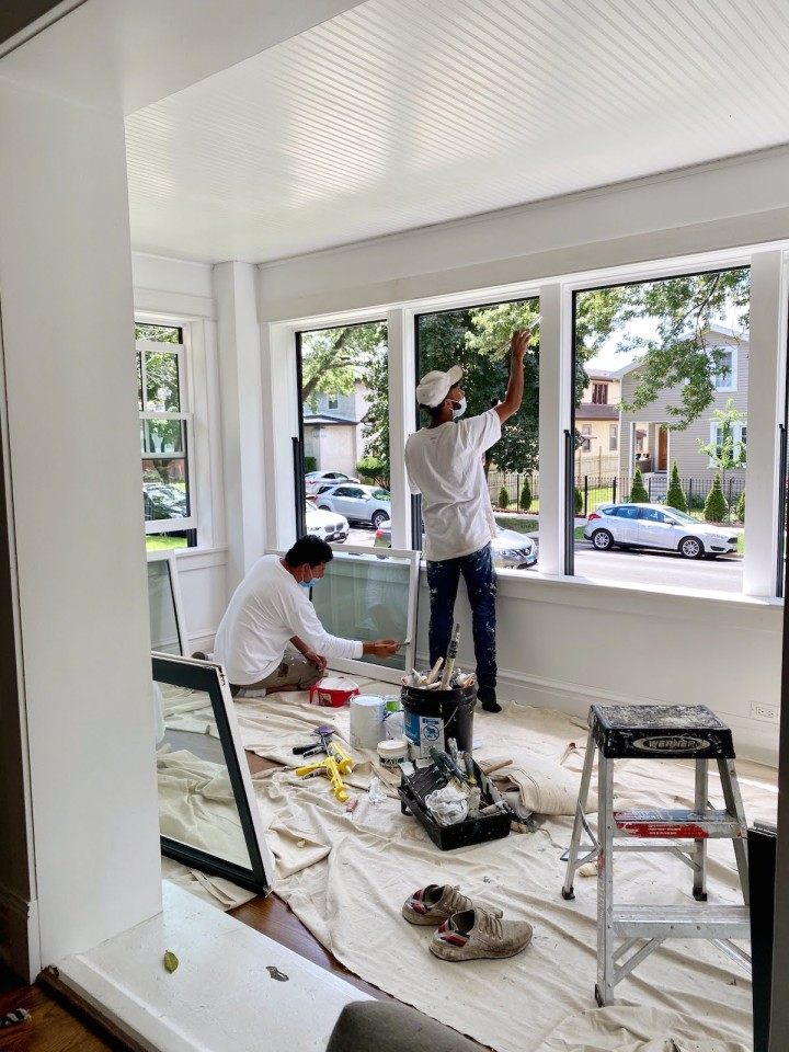 Sunroom Renovation – Floor Installation and Painting