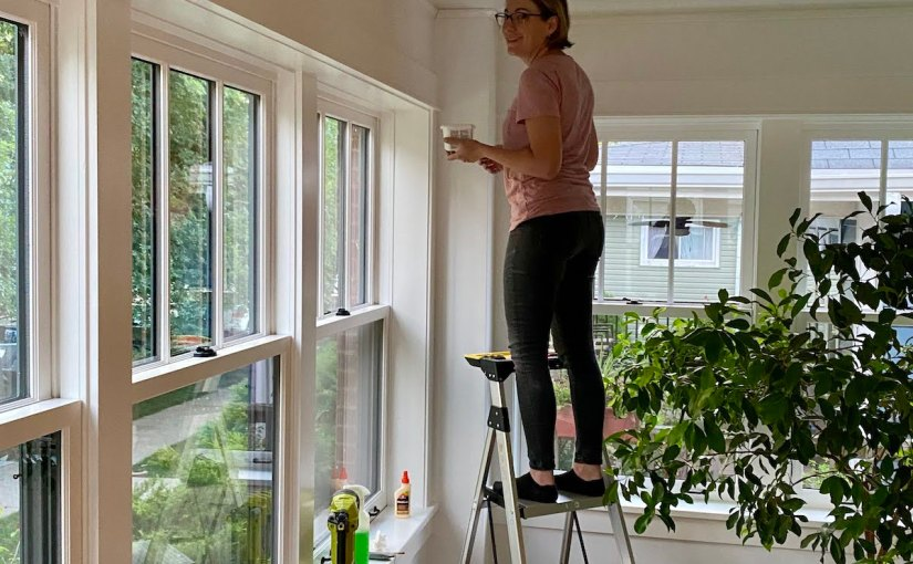 DIY Moulding and Painting in theSunroom
